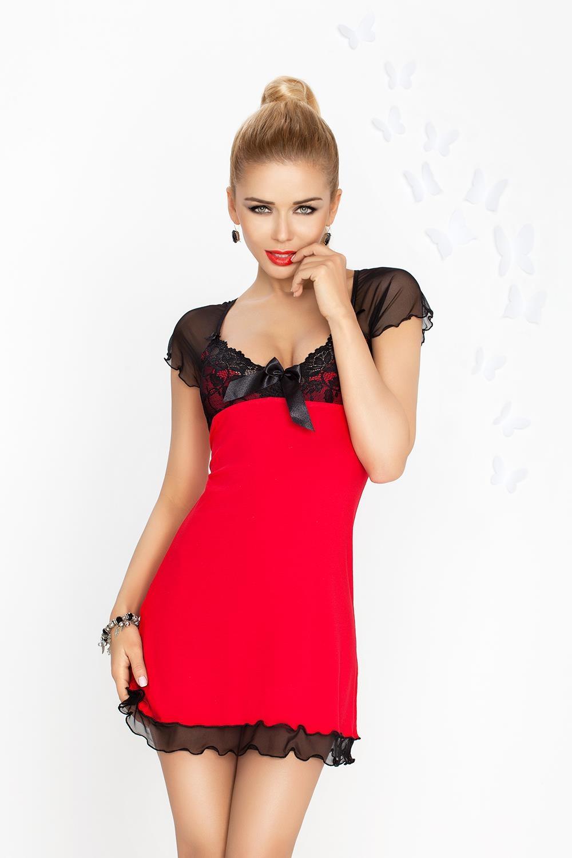 Dámská košilka Irina red-black