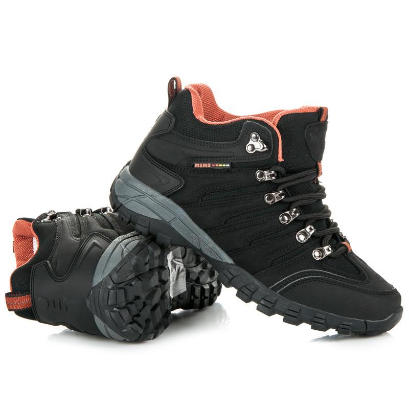 Dámské černé trekové boty v sportovním stylu