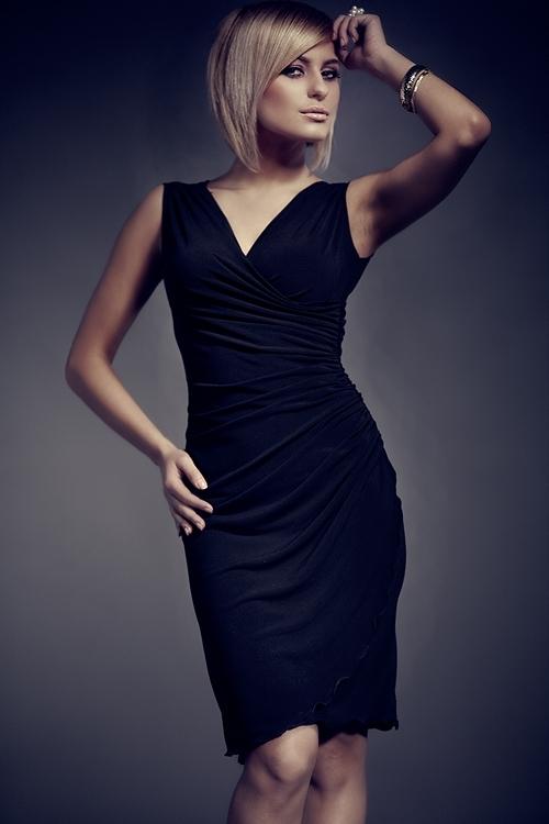 Dámské šaty M053 black