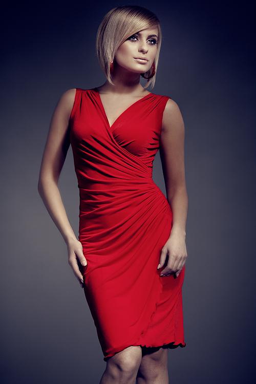 Dámské šaty M053 red