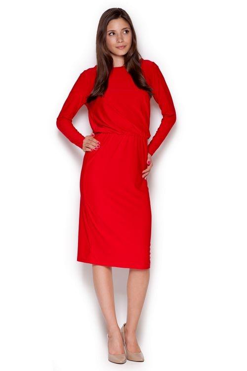 Dámské šaty M326 red