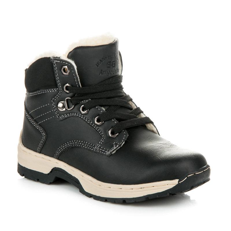 Dětské černé zimní trekové boty