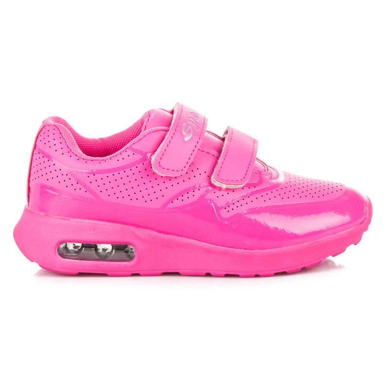 Dětské červené sportovní botasky na suchý zip