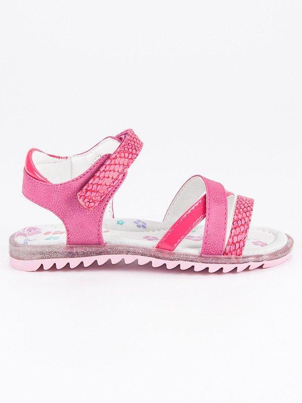 Dětské růžové ploché sandály