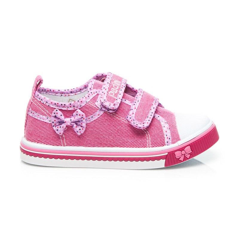 Dětské růžové tenisky na suchý zip