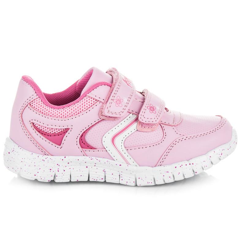 Dětské sportovní růžové boty na suchý zip