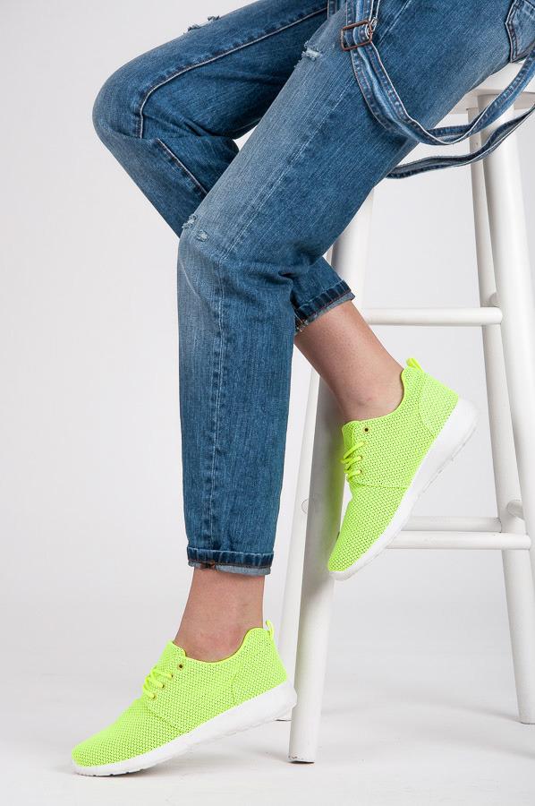 Dokonalé dámské zelené tenisky