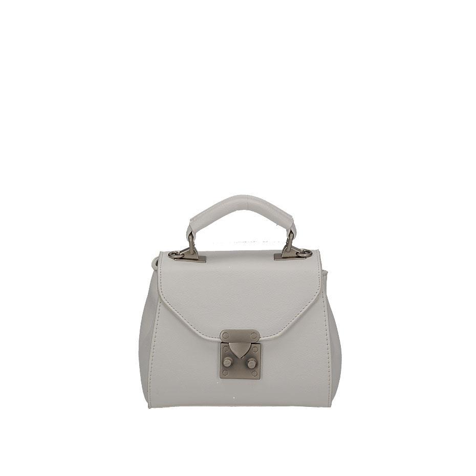 ffd83a525c3 Elegantní bílá malá kufříková kabelka na klopě