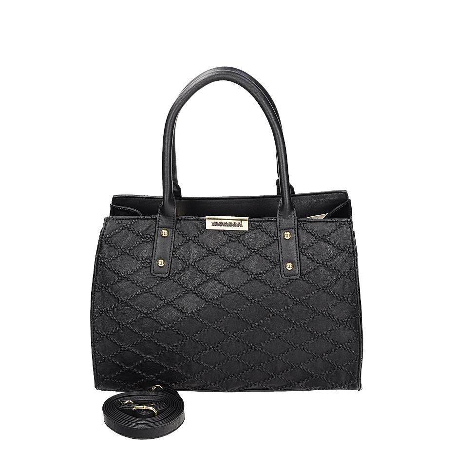 Elegantní černá kabelka s originálním vzorem 0a4c132df08