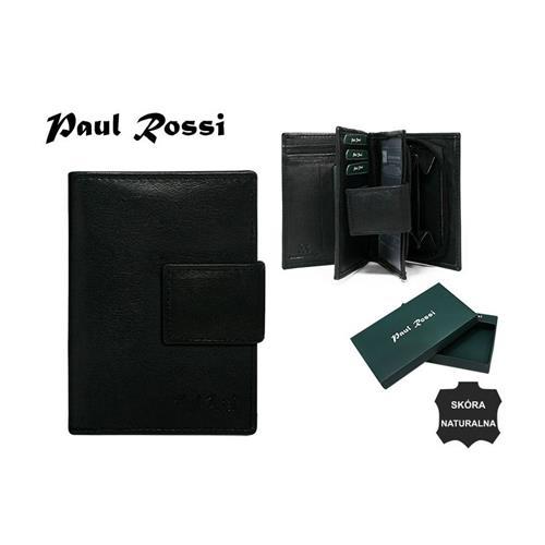 Elegantní černá kožená dámská peněženka se zapínáním