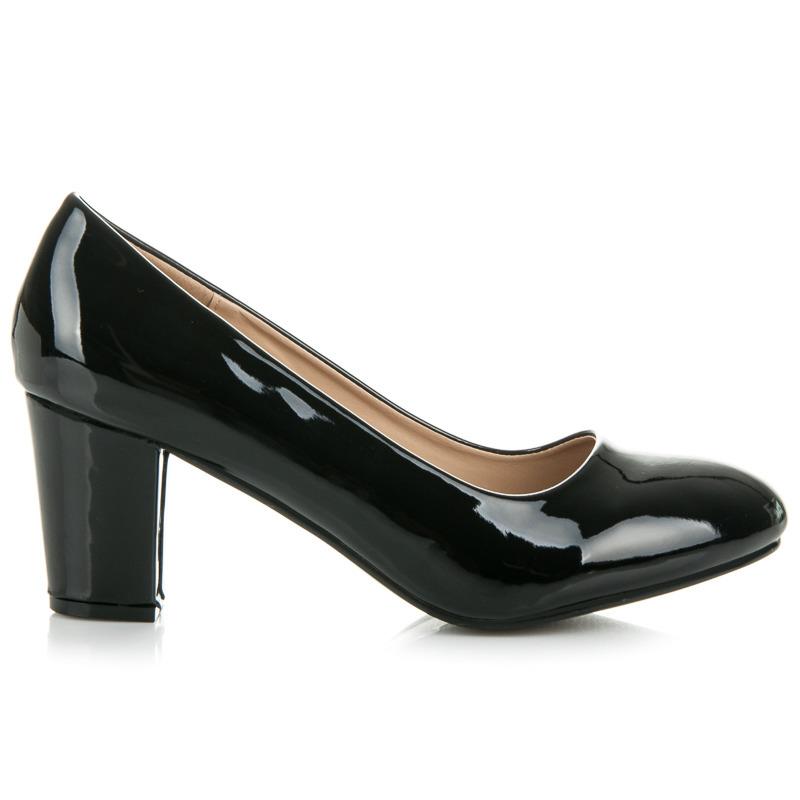 Elegantní černé lodičky na podpatku
