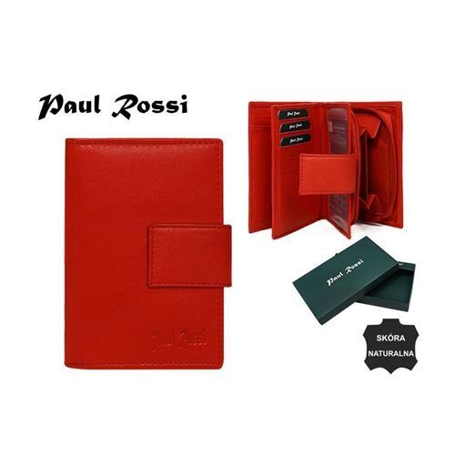 Elegantní červená kožená dámská peněženka se zapínáním