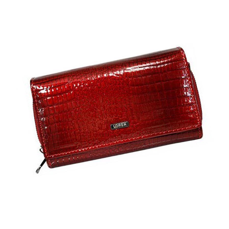 Elegantní červená kožená dámská peněženka značky Loren
