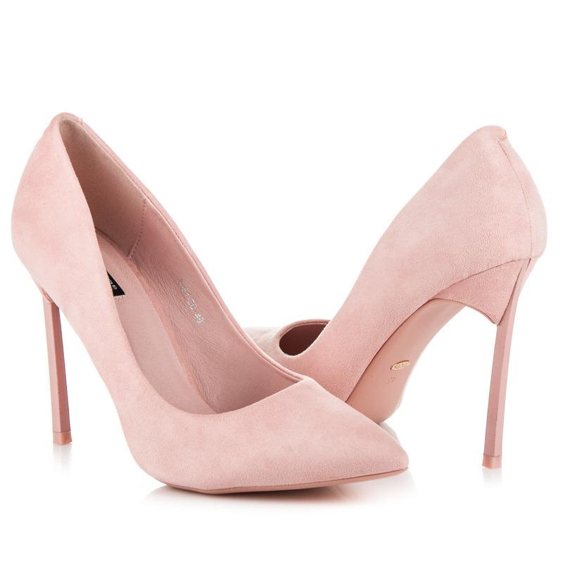 Elegantní růžové lodičky na jehlovém podpatku