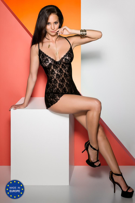 Erotická košilka Daiva chemise black