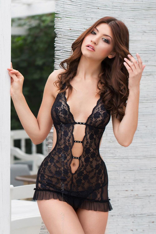Erotická košilka Ursula black