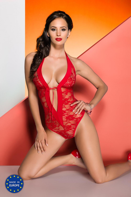 Erotické body Rayen body red