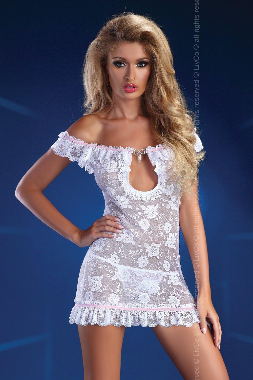 Erotické šaty Mija white