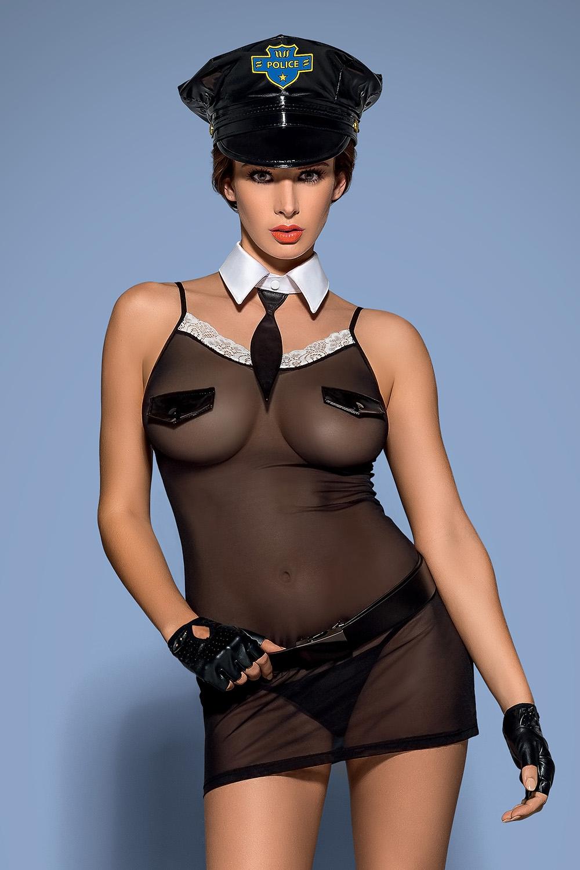 Erotický kostým Police chemise