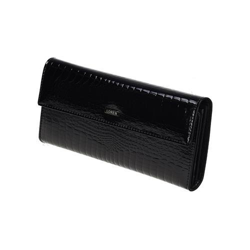 Exkluzivní černá kožená dámská peněženka