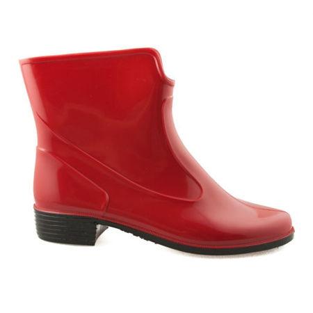 Fantastické červené dámské gumáky