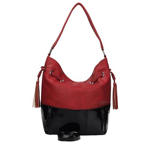 Kabelka v módní červené barvě s popruhem přes rameno
