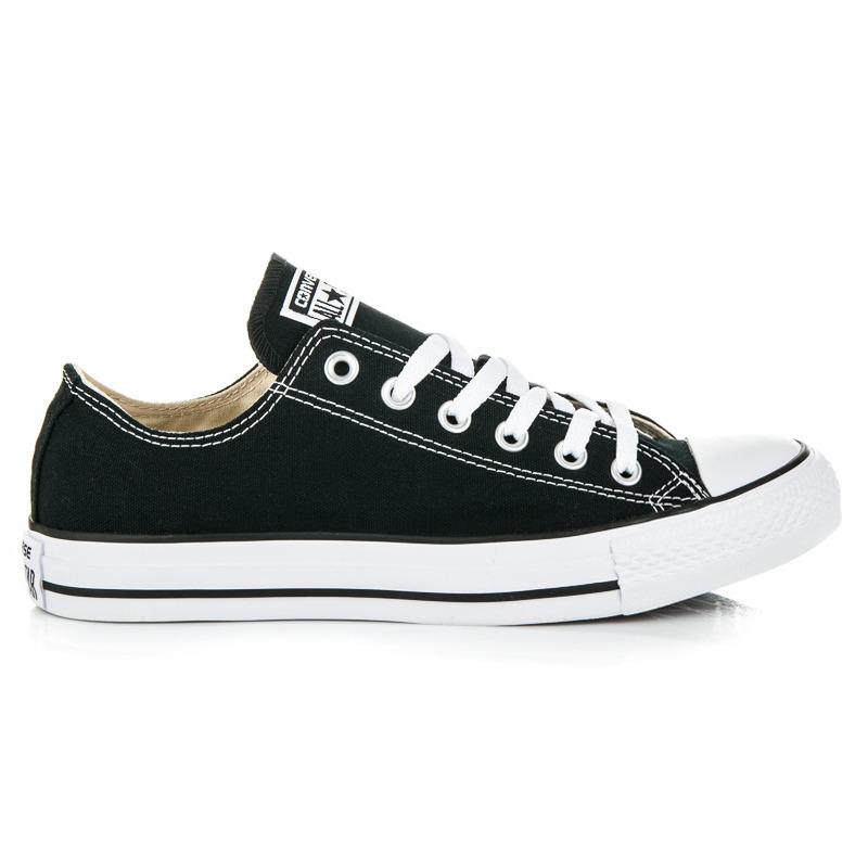 Klasické černé tenisky na zavazování na tkaničky Converse