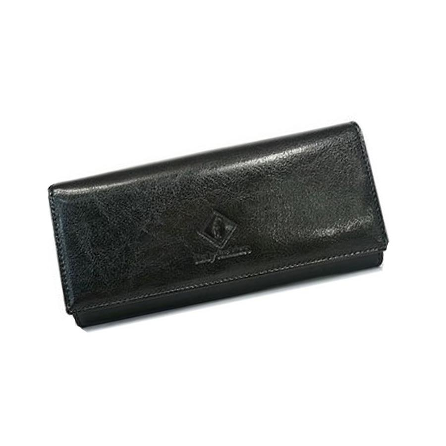 Kožená luxusní dámská peněženka v černé barvě