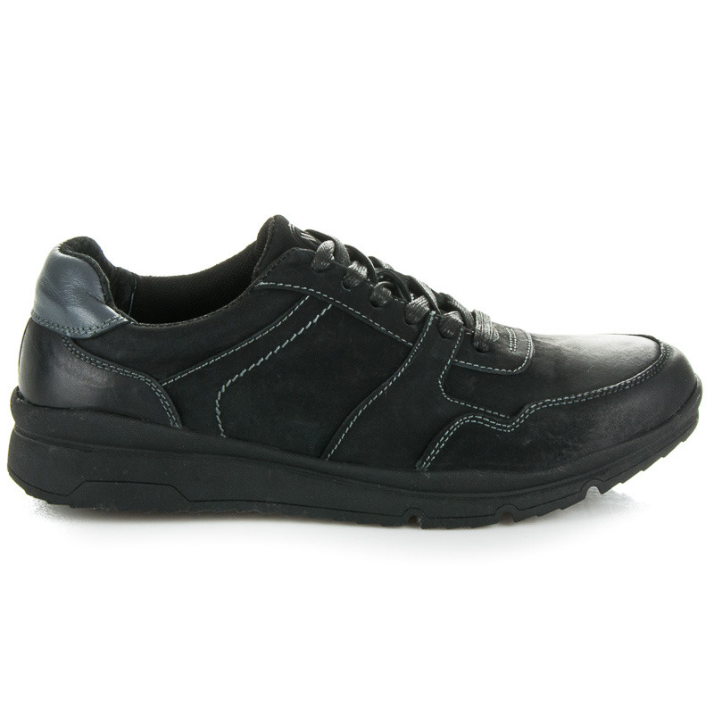 Kvalitní černé pánské sportovní boty