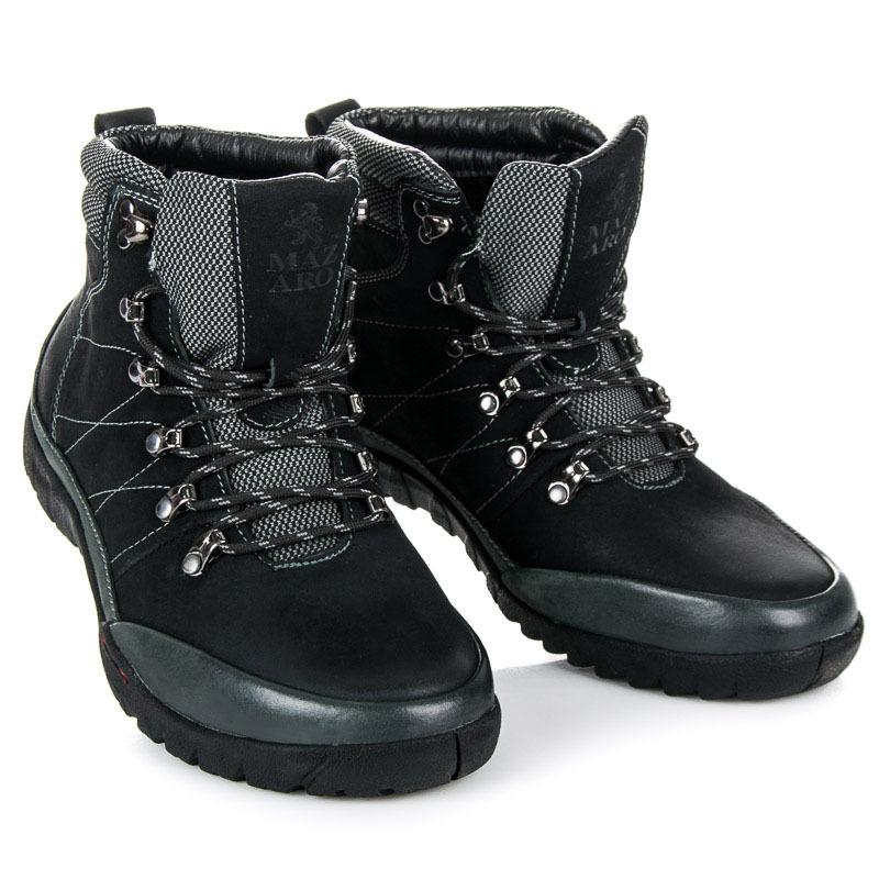 Kvalitní černé pánské trekové boty