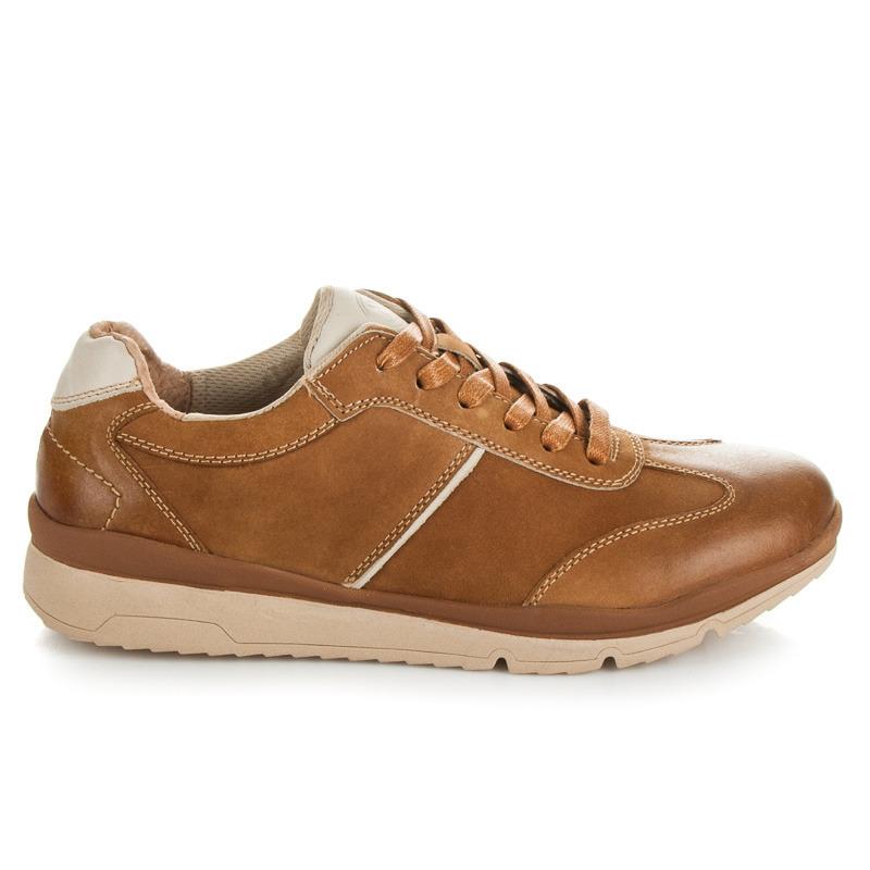 Kvalitní hnědé pánské sportovní boty
