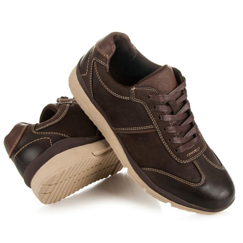 Kvalitní kávové pánské sportovní boty