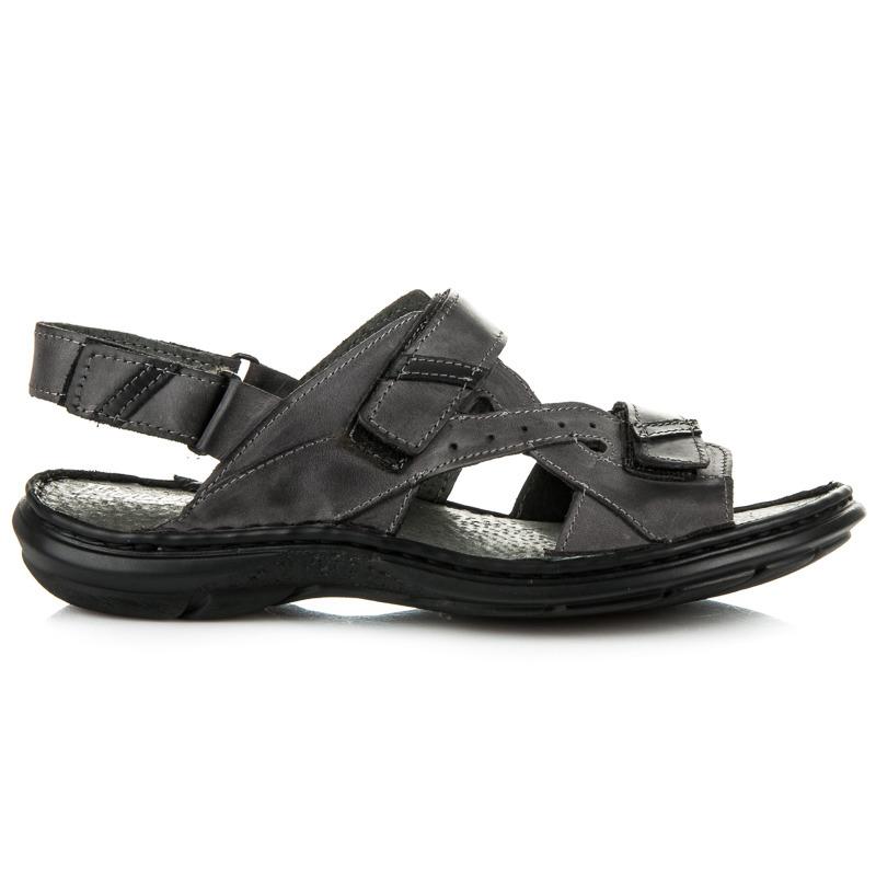 Lehké šedé pánské sandály
