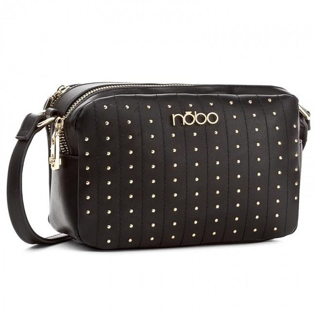 Luxusní černá malá kabelka se cvočky
