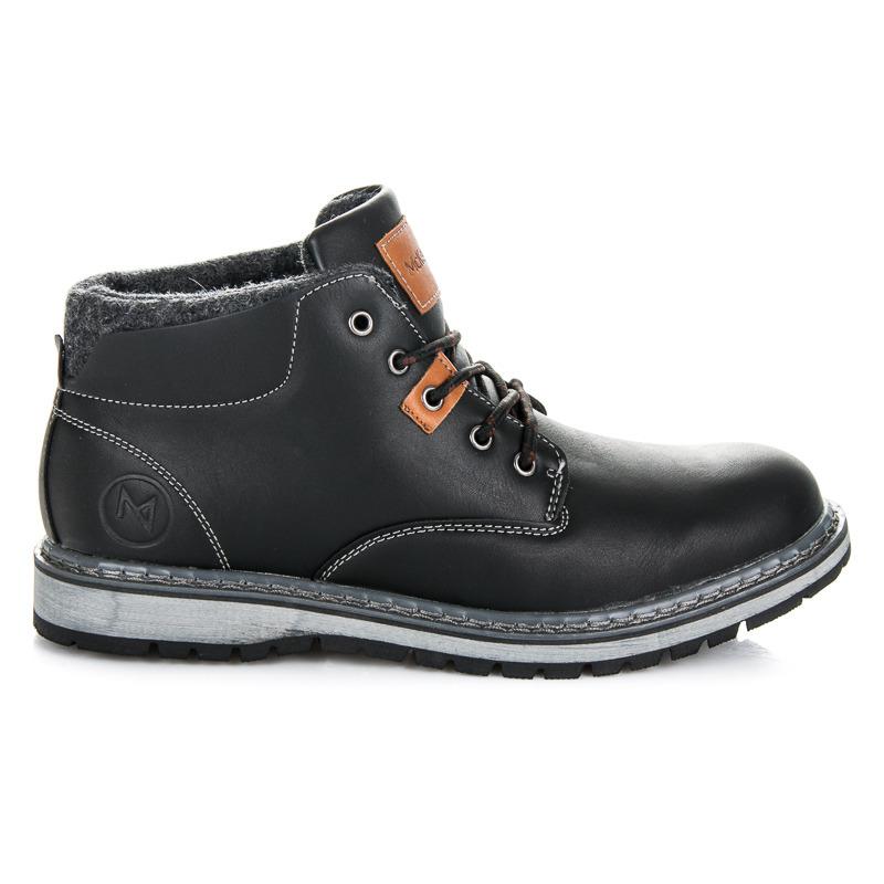 Luxusní černé pánské kotníkové boty