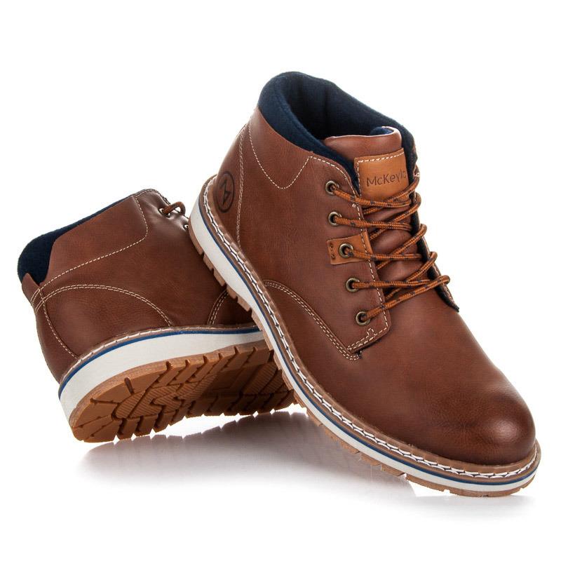 Luxusní hnědé pánské kotníkové boty