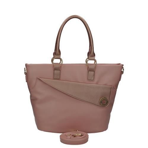 Luxusní růžová kabelka v originálním designu