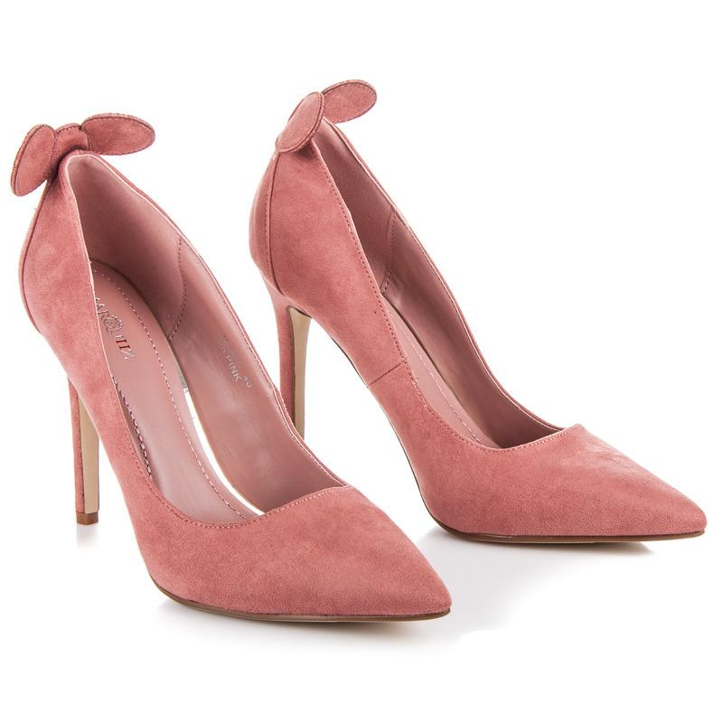 Luxusní růžové lodičky s oušky