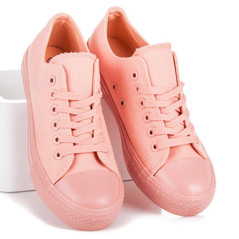 Luxusní růžové tenisky na šněrování