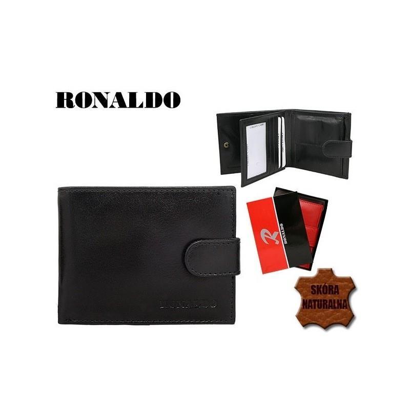 Menší pánská černá peněženka z pravé kůže