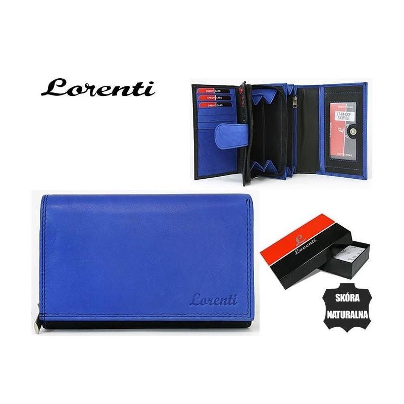 Moderní modrá kožená dámská peněženka