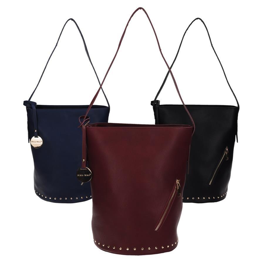 Moderní velká taška přes rameno - různé barvy