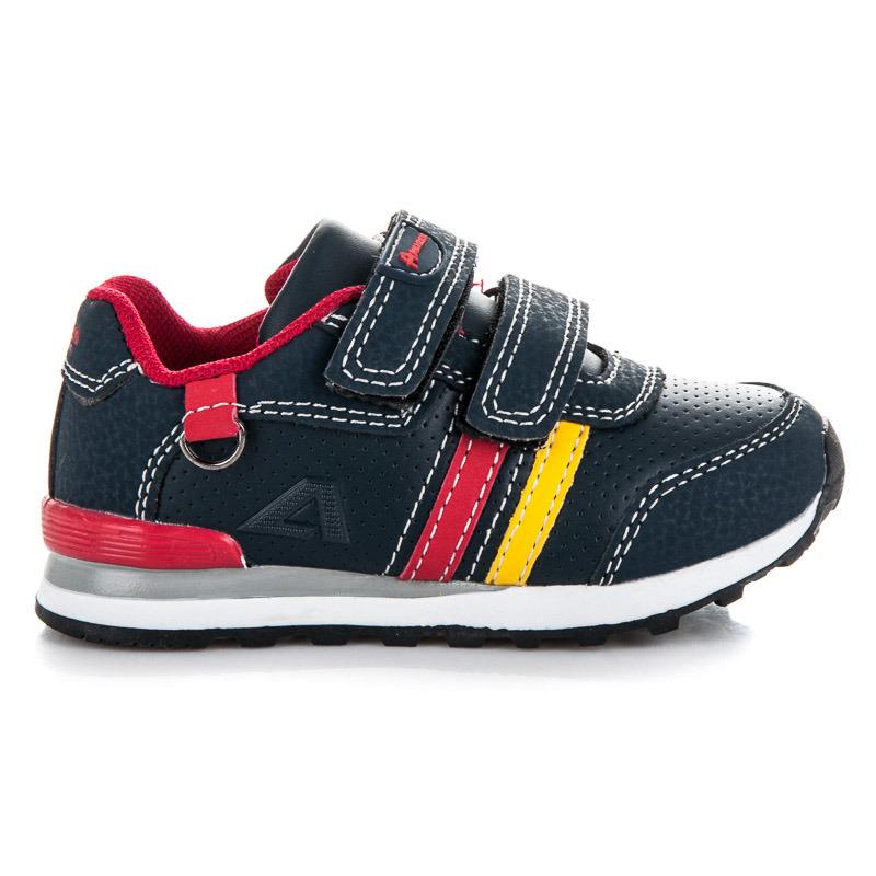 Módní modré dětské sportovní botasky