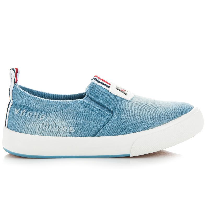 Nazouvací modré džínové dětské tenisky