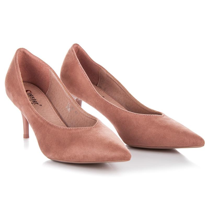 Neodolatelné růžové lodičky na nízkém podpatku