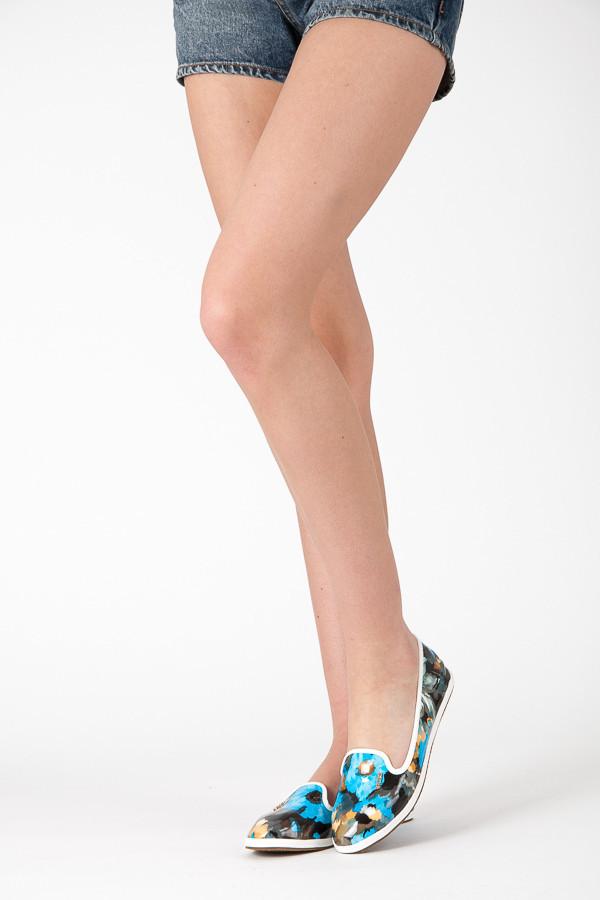 Nezvyklé dámské baleríny - barevný vzor