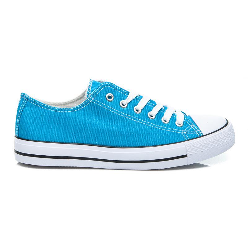 Nízké dámské tenisky - modré