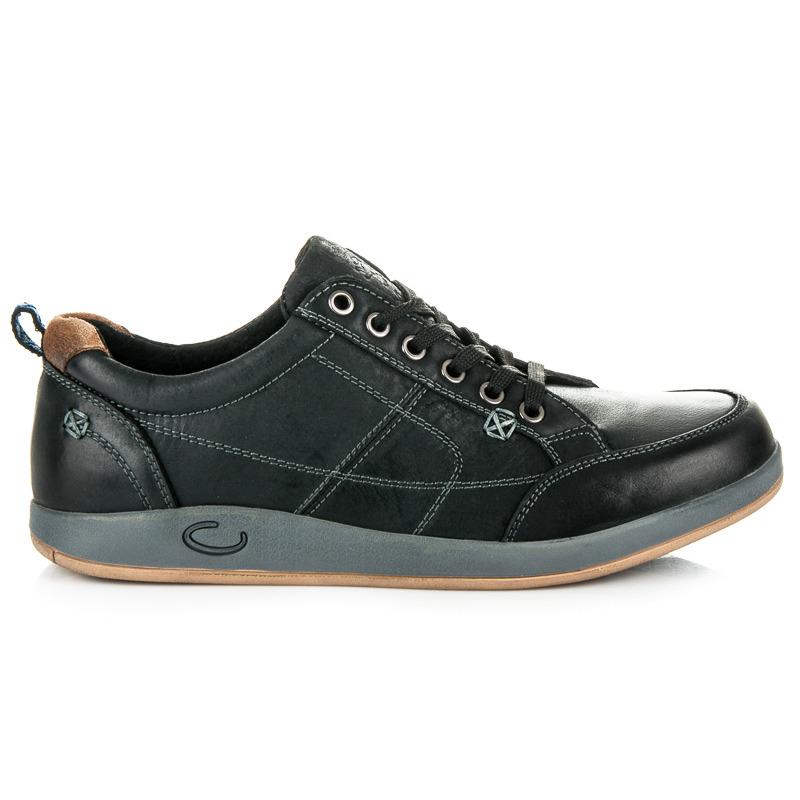 Pánské černé sportovní boty na pohodlné podrážce