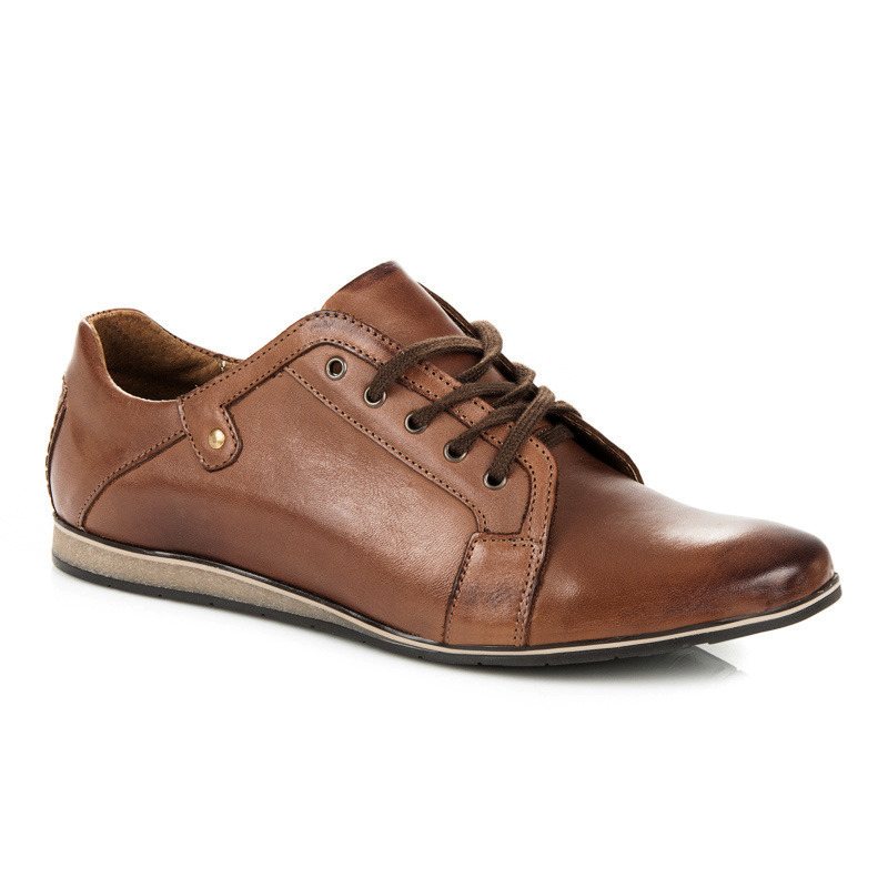 Pánské hnědé kožené boty
