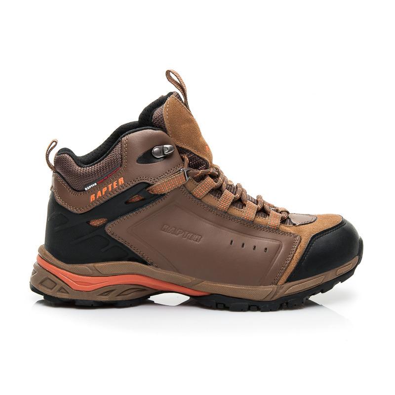 Pánské hnědé luxusní trekingové boty